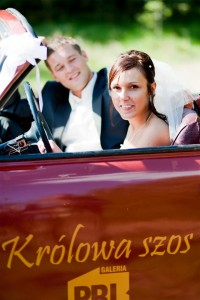auto do ślubu syrena kabrio
